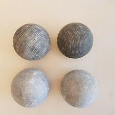 2 paires de boules anciennes de pétanque lyonnaise - 4 boules 1,1 kg chacune