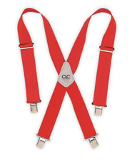Red Work Suspenders Adjustable Padded Electrician Carpenter Tool Utility Belt