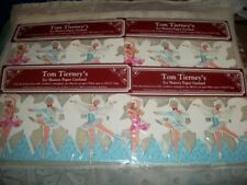 """4 Packages Tom Tierney's Ice Skaters Paper Garland 1995 Shackman 104.25"""" each"""