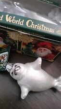 The Seal Pup Old World Christmas Ornament Rare Glass (white seal) Collectible