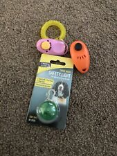 2 Dog Clickers For Training & Safety Light