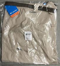 NEW Columbia Men's Silver Ridge Cargo Shorts, Fossil, 42x10, UPF 50