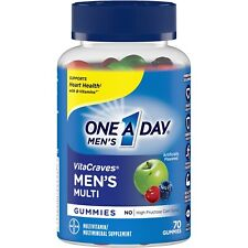One A Day MEN'S VitaCraves 70 GUMMIES MULTIVITAMIN / MINERAL SUPPLEMENT Adult