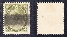CANADA #84 Used 20c Olive Green 1900 QUEEN VICTORIA Bar Cancel NICE SCV $100.00
