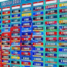 2018 Fantasy Football Draft Kit High Quality Board + Player Labels Alphabetized