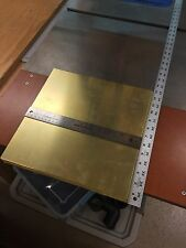 "ALLOY 260 BRASS SHEET PLATE .0625"" THICK  12"" X  12"" SQUARE GUN KNIFE ETC."