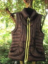 Halifax Traders Down Vest~Grey w/ Lime Trim~PUFFY WARM GEM~XS~LOOKS GREAT