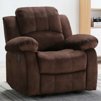 Recliner Chair Armchair Cozy Fabric Sofa Backrest Lounge Theater Seat Footrest