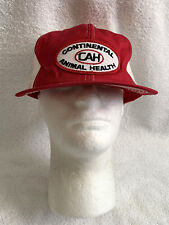 K Products K Brand Continental Animal Health CAH Trucker Hat Snap Red White