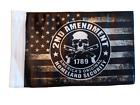 "US FLAG Motorcycle 2nd AMENDMENT Homeland Security fits 3/8"" Pole Bike Gun USA"