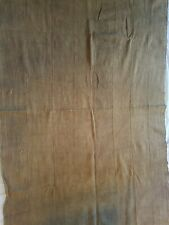 """Authentic African Handwoven Brown Colored Mud Cloth Fabric 65"""" by 41"""""""