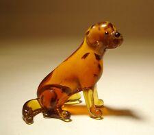 "Blown Glass ""Murano"" Art Figurine Dog Brown LAB Labrador Sitting"