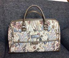 Vintage Jordache Tapestry Luggage Shoulder Bag Saddlebag Overnight