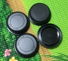 3x Rear Lens Caps + 1x Front Body Cap for Pentax K Mount PK K10D K20D K200D K-7