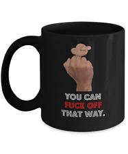 Middle Finger Mug, Rude Tea Cup, Cursing Coffee Mug, Black 11oz Coffee, Teacup