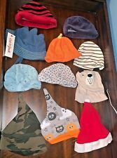 Lot of 14 Baby Boy Sun Hat, Holiday/ Winter Newborn-12 Months Scratch Mittens