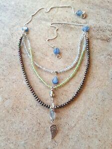Peacock Pearl Kyanite Peridot Labradorite Sterling Silver 925 Necklace Sundance