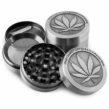 1PC 3-Layer Herb Grinder Spice Tobacco/Weed Smoke Zinc Alloy Crusher Leaf Design