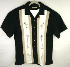 Batck Bay Mens Button Short Sleeve Medium Shirt  PALM DESIGN Hawaiian