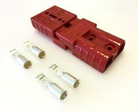 PAIR ANDERSON SB50-600V Plug- LARGE CABLE TERMINAL BATTERY POWER CONNECTOR-RED