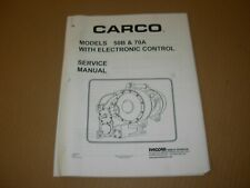 Carco Paccar 50B , 70A Winch with Electronic Control Service Manual ,issued 2010