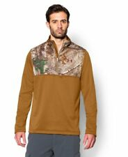 Under Armour Men's Camo 1/4 Zip Pullover Hunting Long Sleeve Sweatshirt XXL 2XL