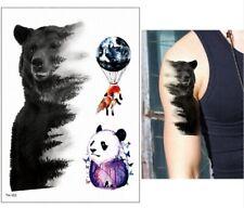 High Quality 21cm x 15cm Fake Temporary Tattoo Bear Panda Fox Balloon /-b207-/
