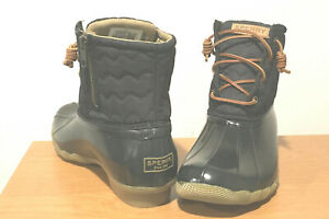 BRAND NEW WOMEN'S TOP-SIDER SPERRY QUILTED WATER RAIN SNOW SHORT BOOTS - SIZE 8
