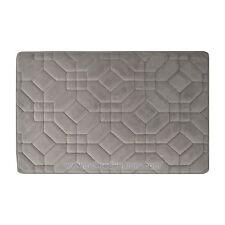 Gray Memory Foam Bathroom Mat/rug Tiles Design, Soft. Absorbent, Non-Slip