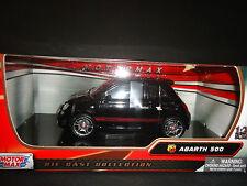Motormax Fiat Abarth 500 Black 1/24
