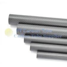 2pcs 3k Roll OD 35mm x ID 33mm x 500mm Length Matte Surface 3K Carbon Fiber Tube