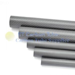 Roll OD 35mm x ID 32mm x 500mm Length Matte Surface 3K Carbon Fiber Tube Pipe