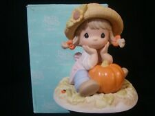 New ListingPrecious Moments-Girl/Pumpkin-Oh What A Wonder-Fall Day-Rare!
