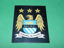 N°340 BADGE MANCHESTER CITY MERLIN PREMIER LEAGUE FOOTBALL 2007-2008 PANINI