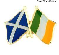 Scotland Ireland Badge Pin Friendship Flag Metal Glasgow Celtic Scottish Irish