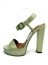 Lanvin 41 / 9.5 Heels Light Green Platform Patent Leather Buckle Sandal Pumps 41