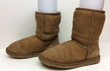 #12 WOMENS UGG AUSTRALIA WINTER BROWN BOOTS SIZE 6