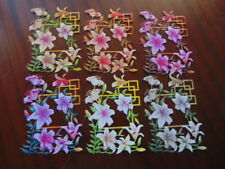 Tattered Lace dado Corta Corte precioso momento Lily enrejado X 6 de los 36 Colores para Elegir
