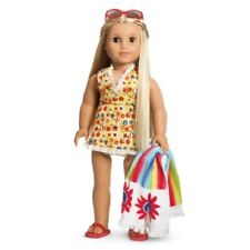 American Girl Julie SWIM SET retired swimsuit towel sandles sunglasses NO DOLL