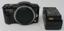 Panasonic Compact LUMIX DMC-GF3 12.1MP Digital Camera Body w Extra Lumix Battery