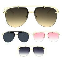 Classic Mobster Style Rimless Flat Top Luxury Pilots Sunglasses