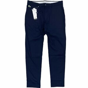 Lacoste SPORT Men's Water Repellent Golf Chino Pants Navy Blue Ultra-Dry HH9528