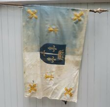 More details for rare antique old vintage joan of arc french republic patriotic flag vexillology