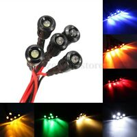 5Pcs 3mm Pre-wired 200mm LED Light Lamp Bulb 12V Plastic Bezel Holder 8 Colors