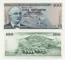 Iceland 100 Kronur L.1957  Pick 40.a UNC Uncirculated Banknote