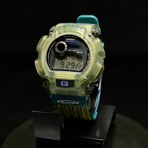 CASIO DW-9000-XS-5T G-Shock 200M G-Lide Excellent Condition Transparent Green