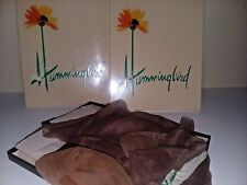 Vintage Womens Seamless Toe Heel  Hosiery Gypsy Gold and Wild Rose Size 10.5 A