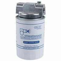 "Westwood F100 Complete Ultra-10™ Spin-On Fuel Oil Filter 17 gph, 3/8"" NPT"