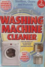 1 x pack 2 machine à laver nettoyant poudre enlève la poussière dirt infirmerie/protège