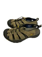 Mens Keen Olive Leather Waterproof Hiking Sandal Bumper Toe Sz 9
